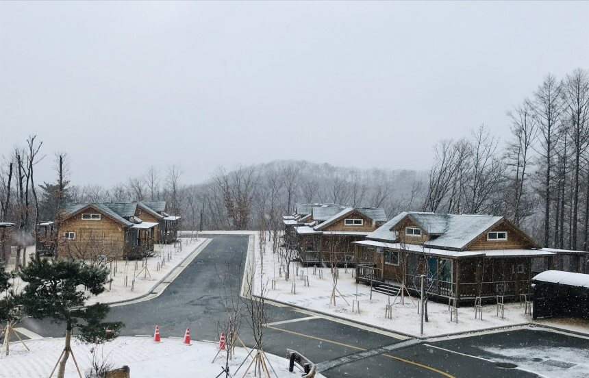 겨울 휴양림