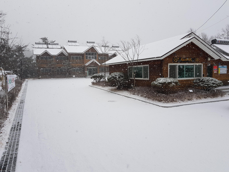 휴양림 겨울풍경