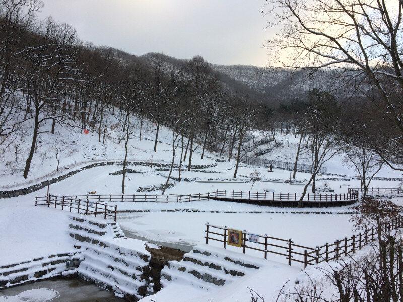 사방댐겨울풍경