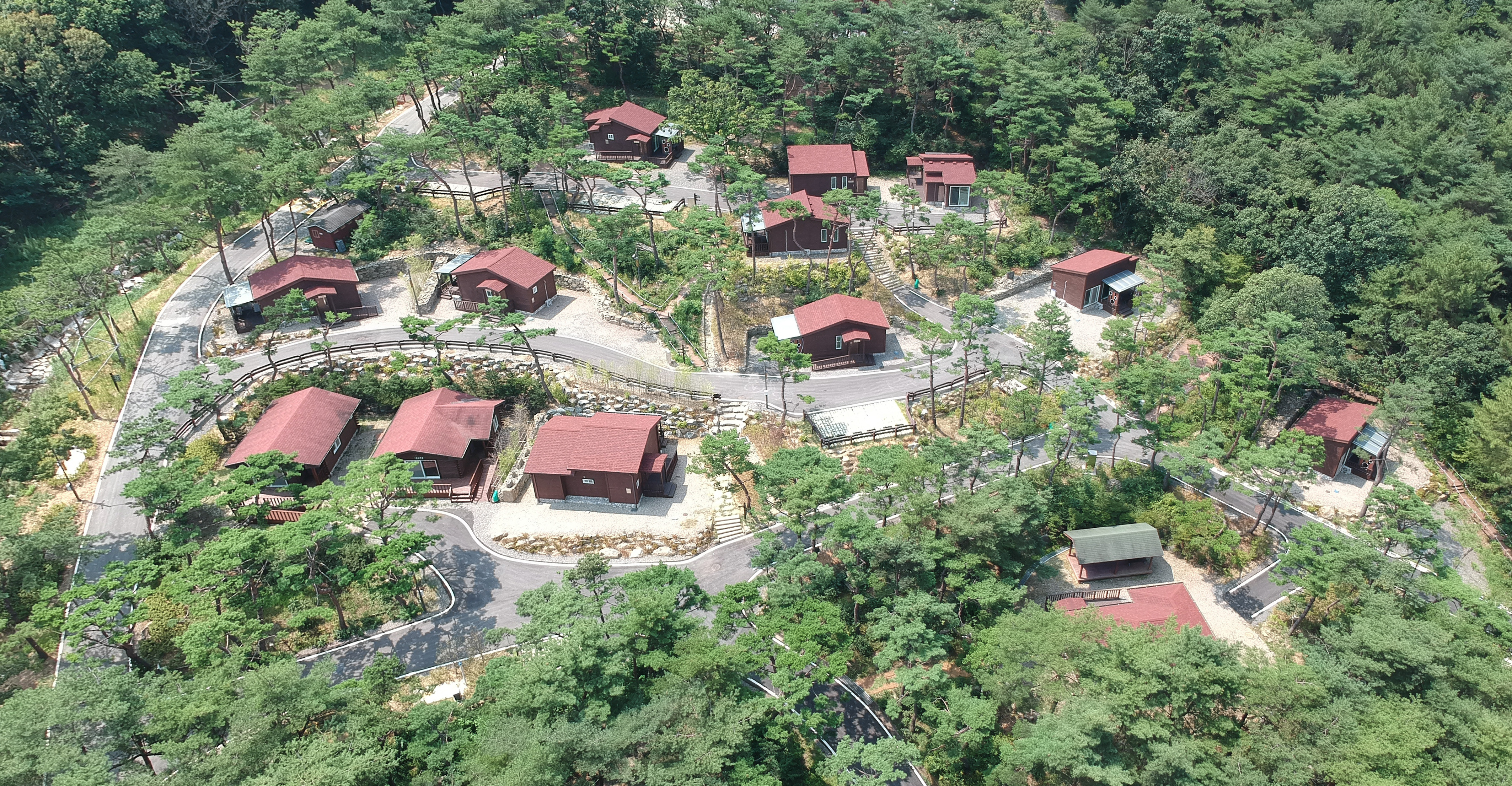 숲속의 집 전경(항공)
